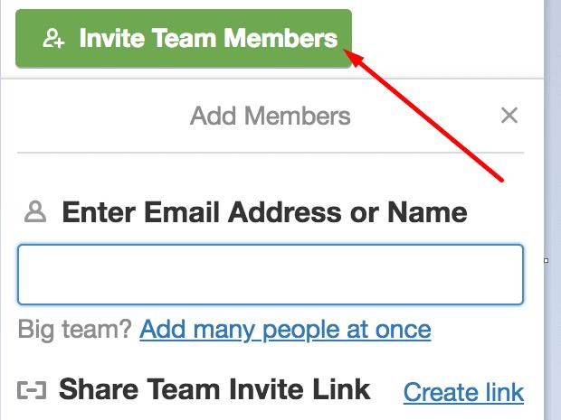 invite team members trello
