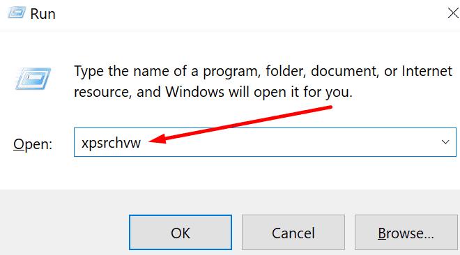open xps viewer run window