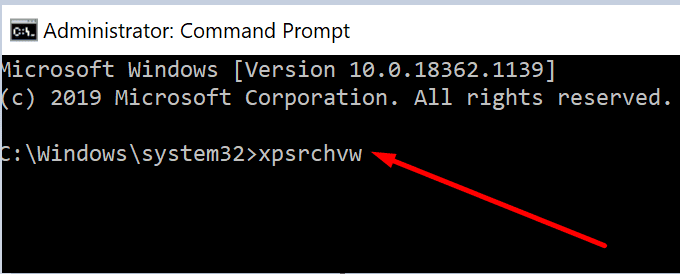run xps viewer command prompt