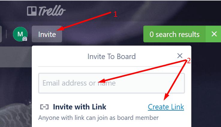 send trello invitations