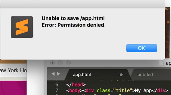 Fix Sublime Text Error Permission Denied