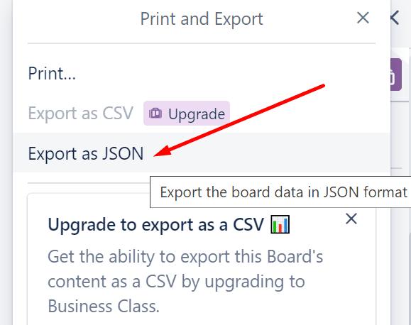 trello export as json