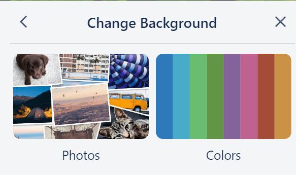 trello photo or color background