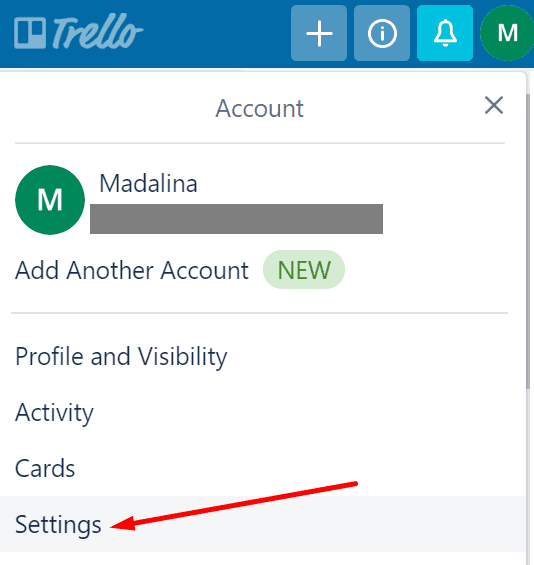 trello settings