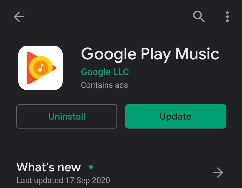 update google play music