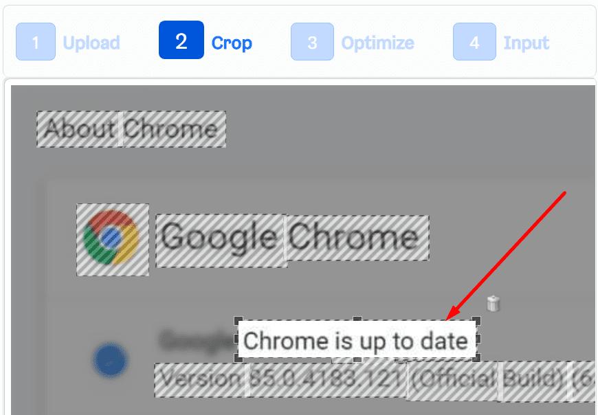 crop image to detect font whatfontis