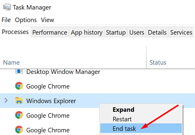 disable windows explorer