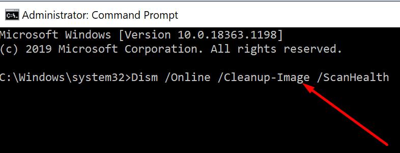dism scan health windows 10