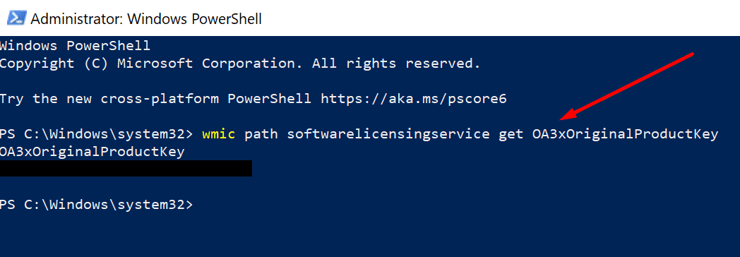 get windows 10 product key powershell