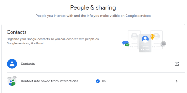 Google Account: How to Automatically Save Contact Info