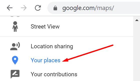 google maps your places