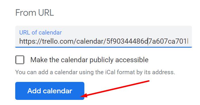 link trello calendar with google calendar