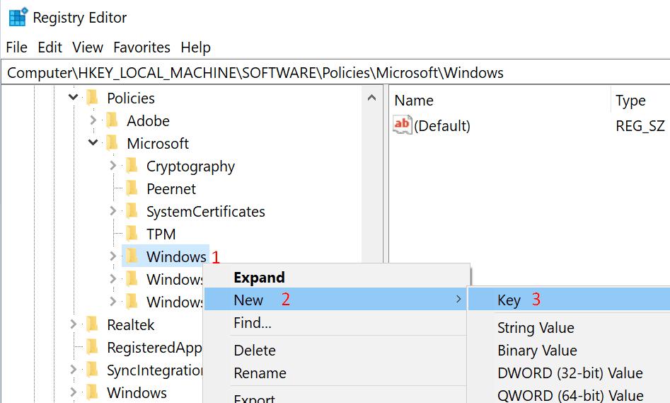 registry editor policy windows
