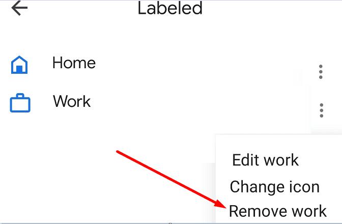 remove labels google maps mobile