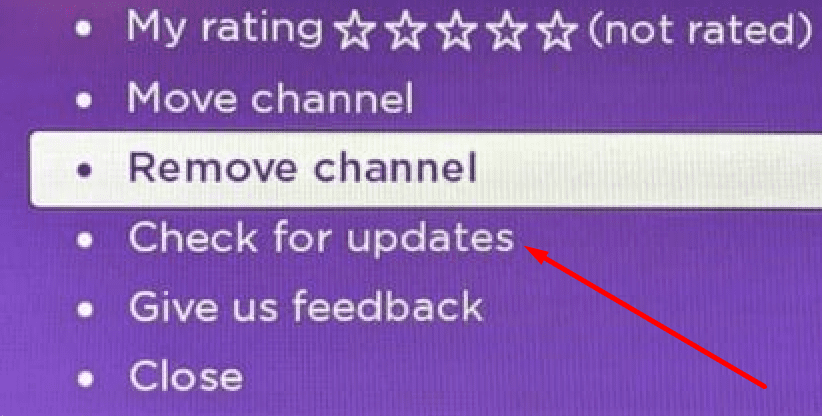 roku check for updates