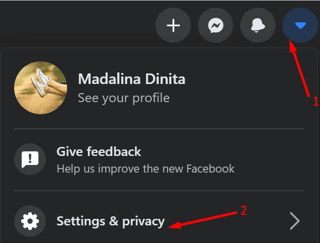 settings and privacy facebook