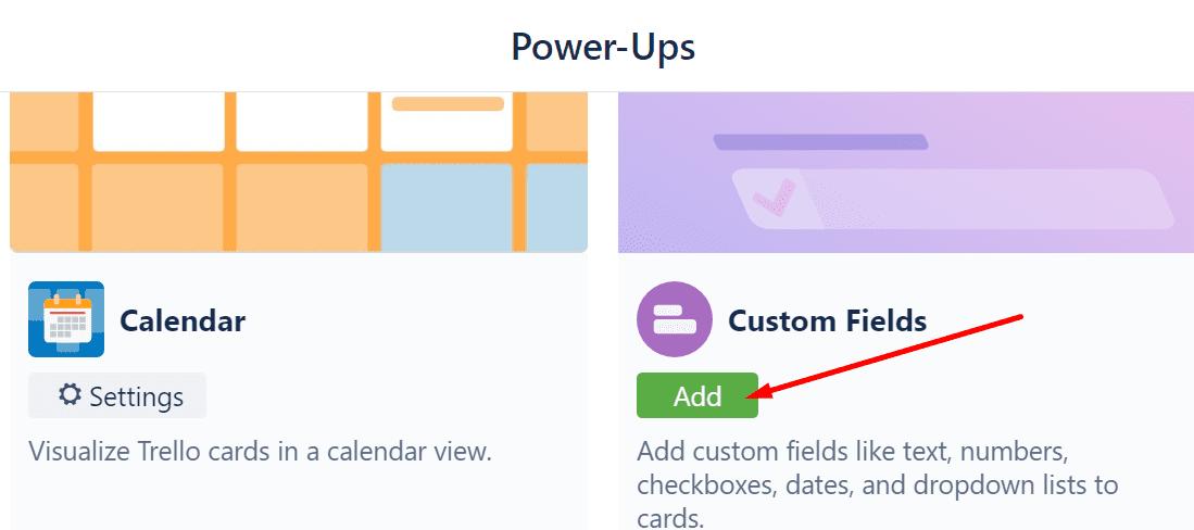 trello add custom fields