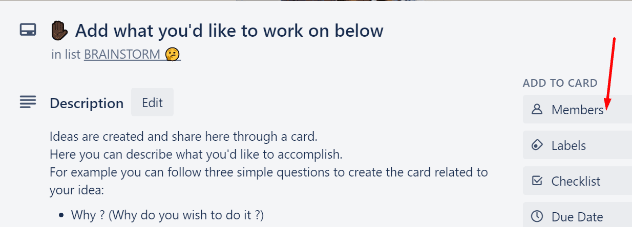 trello add members to card