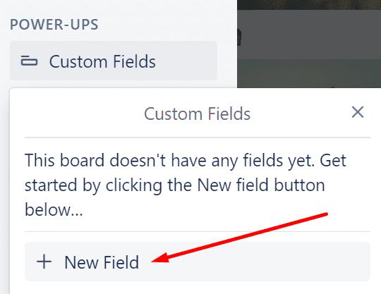 trello custom fields add new field
