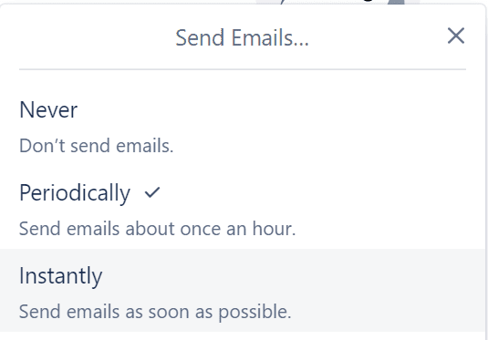 trello email notification frequency settings