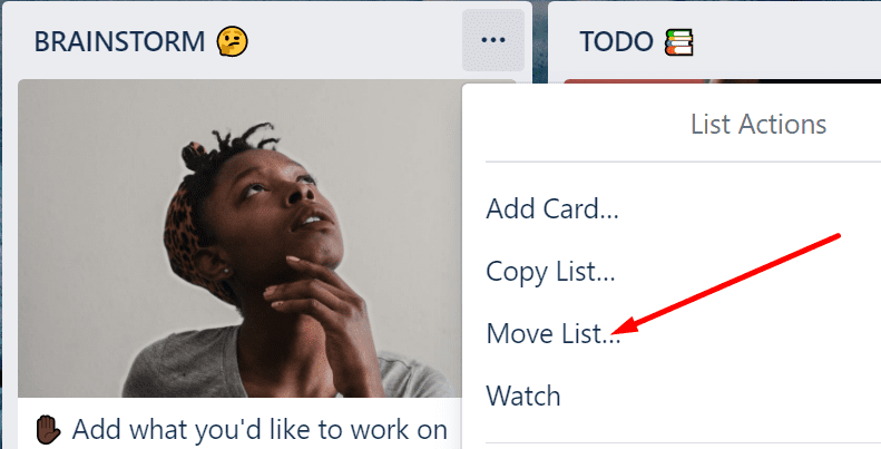 trello move list option