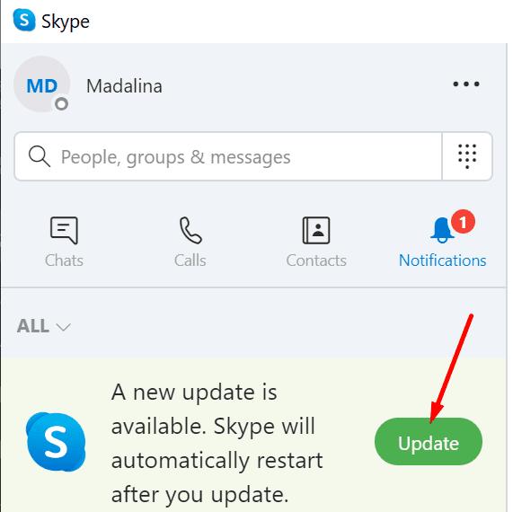 perbarui skype