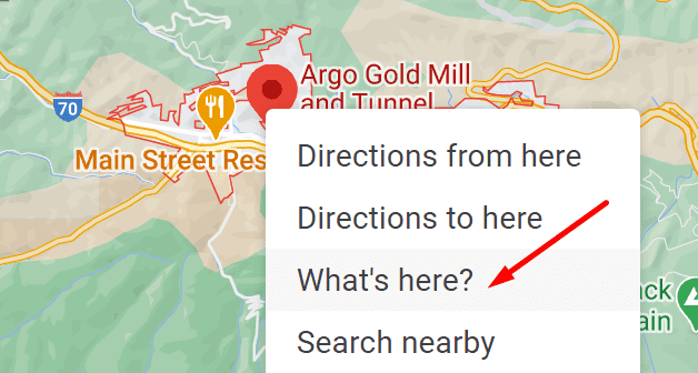 what's here google maps