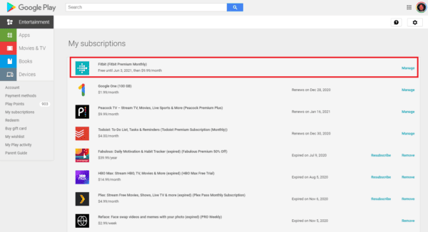Manage Google Play Subscriptions Computer 2