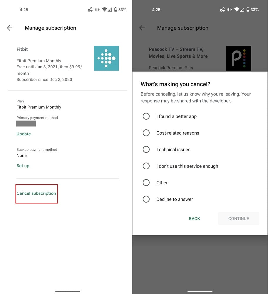 Manage Google Play Subscriptions Play Store 2