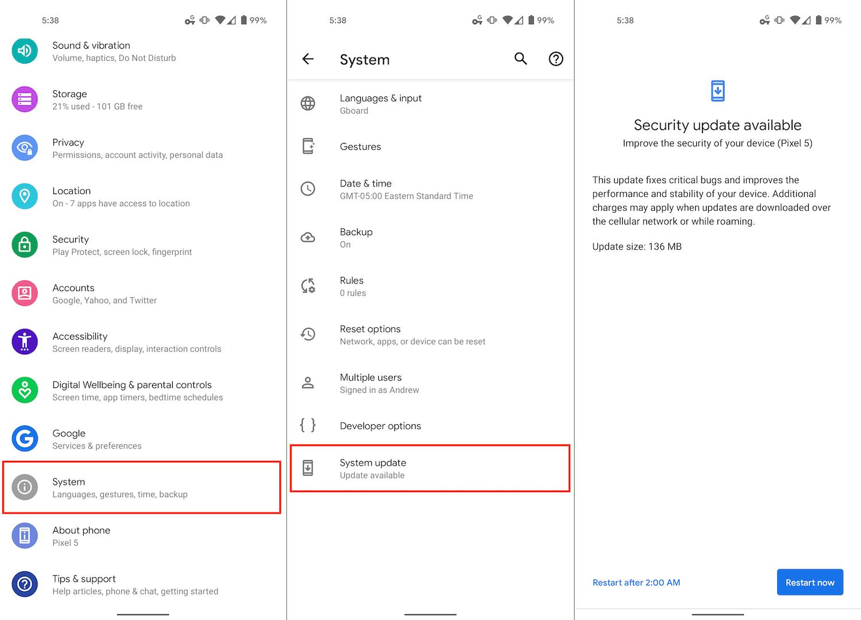 Update Pixel 5