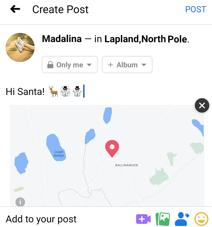 add fake location facebook mobile