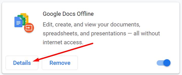 browser extension details