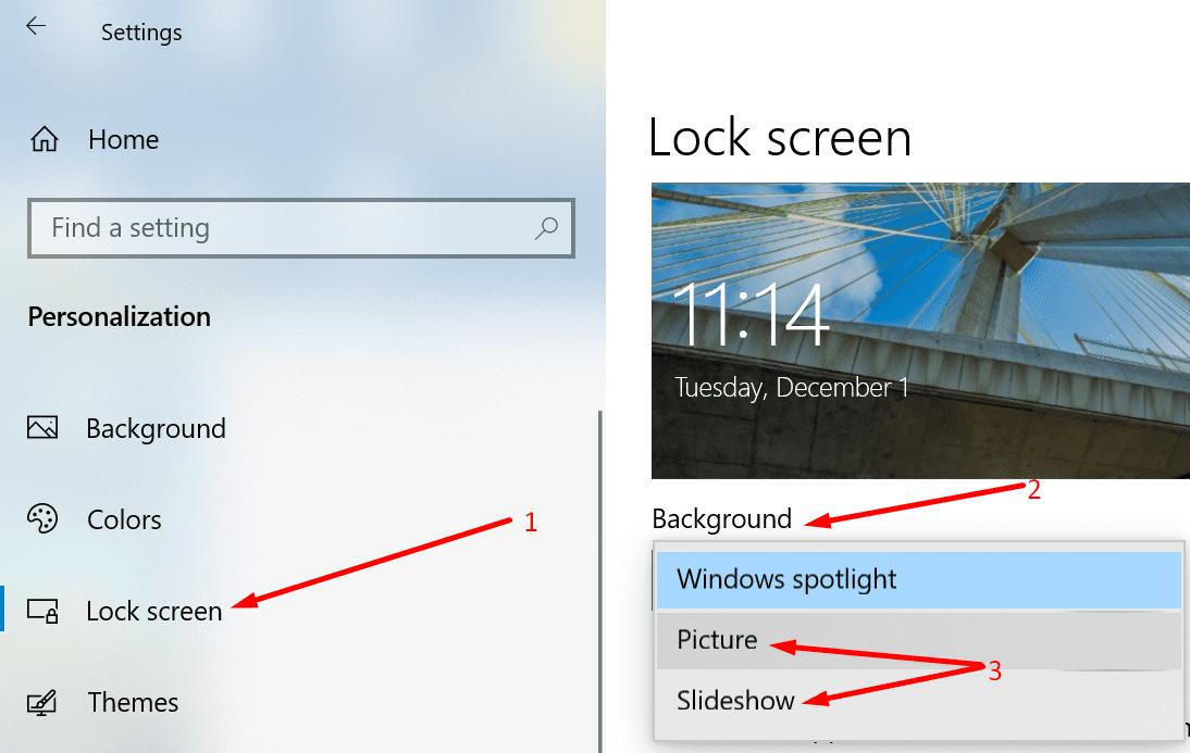 cambiar el fondo de la pantalla de bloqueo de windows 10