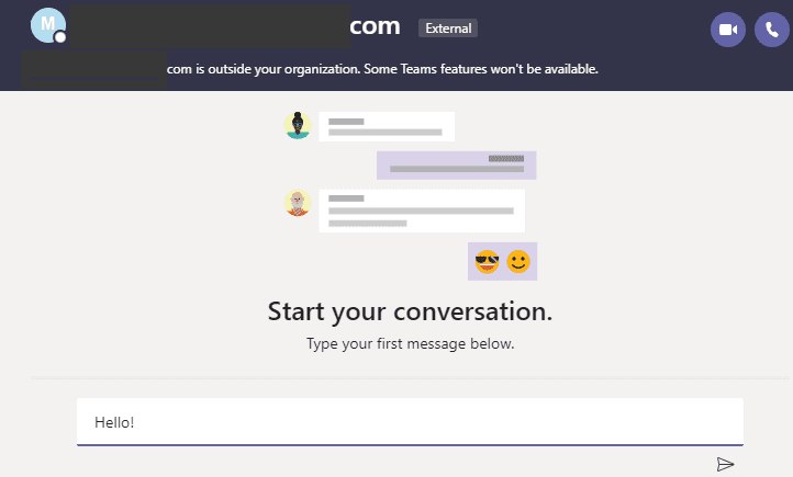 contact skype users from microsoft teams