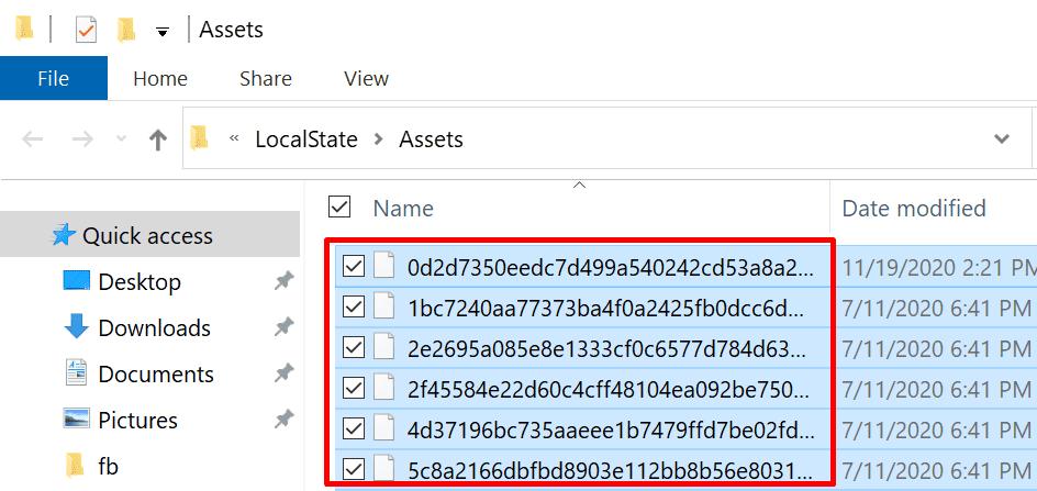 eliminar activos de estado local windows 10