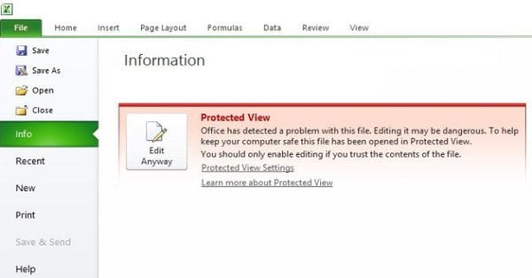 Excel: This File Couldn't Open in Protected View