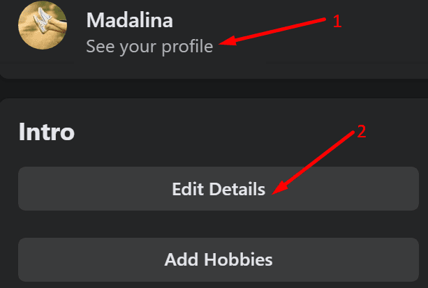facebook profile intro edit details