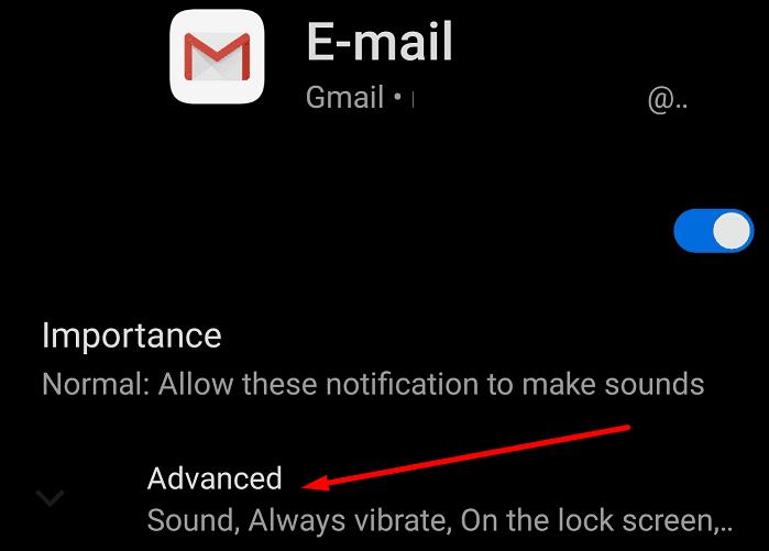 gmail advanced notification settings