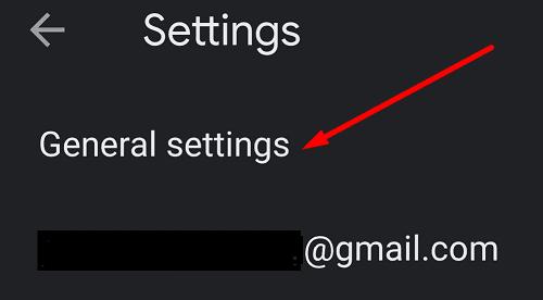 gmail app general settings