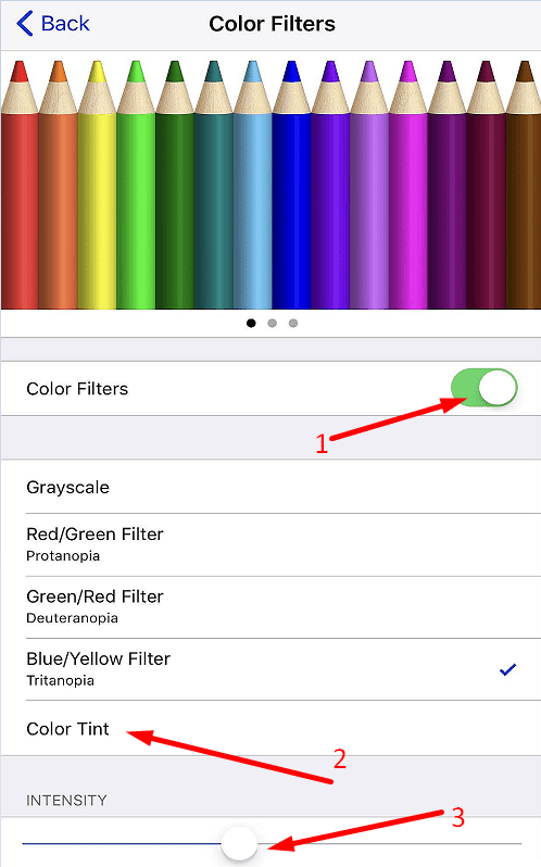 iphone color filters