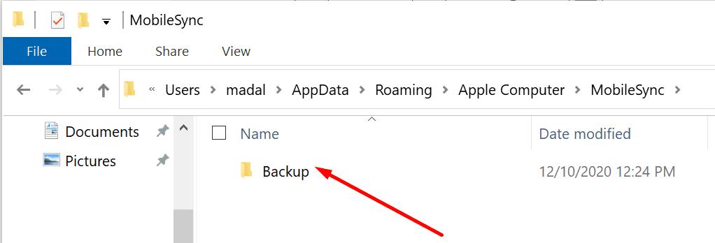 iphone mobilesync folder backup