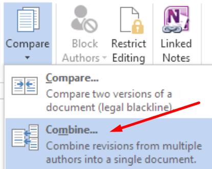 microsoft word combine documents