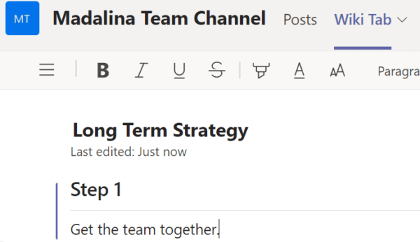 Microsoft Teams: Someone Else is Editing This Section