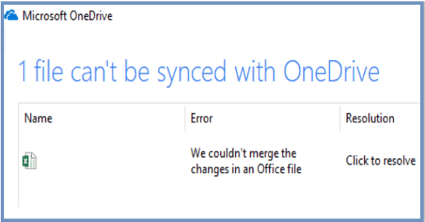 OneDrive: We Couldn't Merge The Changes in Office File