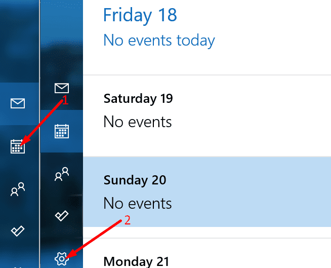 outlook calendar settings