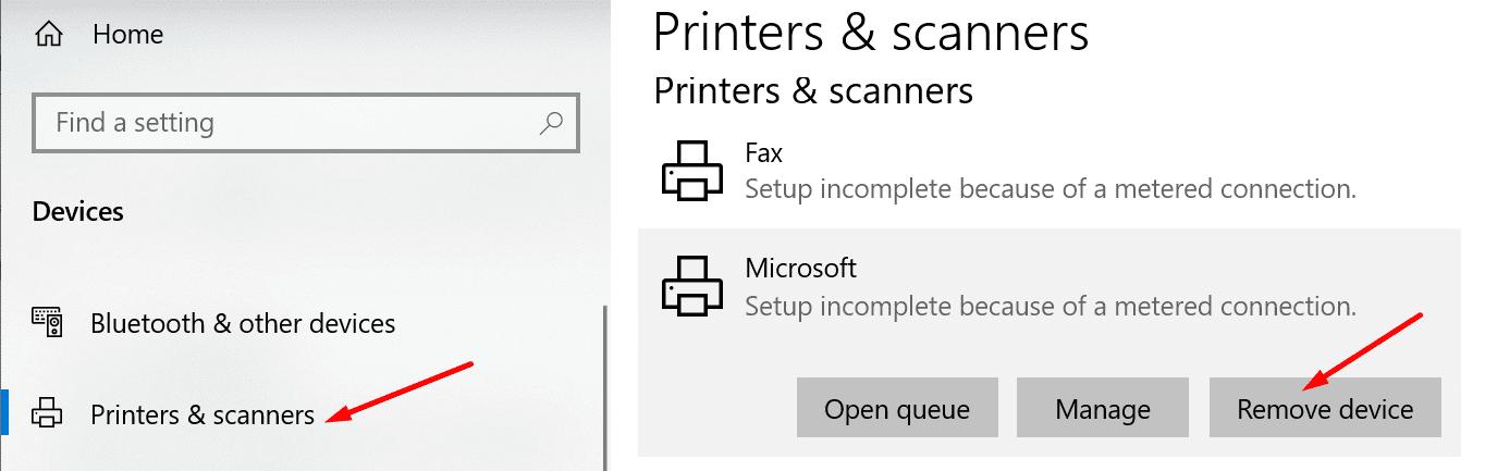 remove printer computer