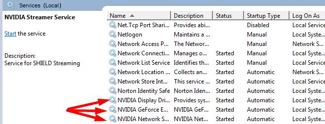restart nvidia services windows 10
