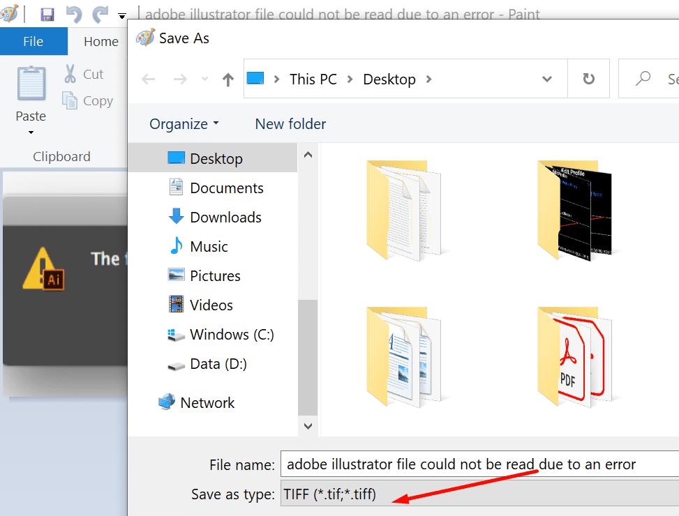save file as tiff