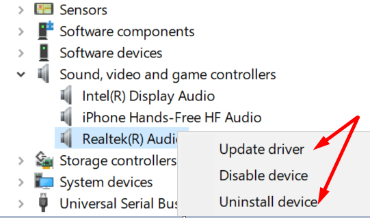 update sound driver windows 10