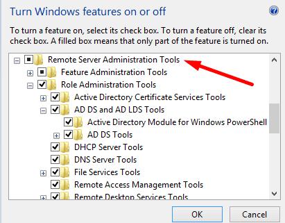 windows features RSAT